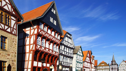 Fahverk house in the Historical center of Fritzlar, Germany