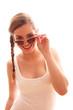 junges Mädchen mit Sonnenbrille