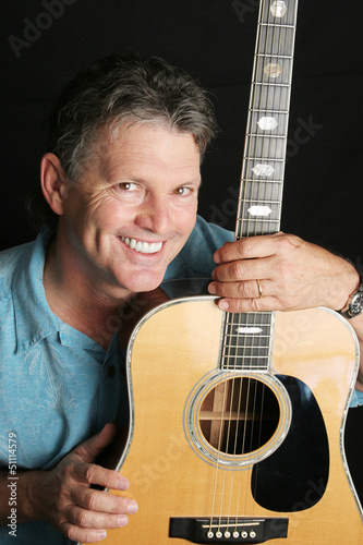 Portrait of Handsome Guitarist