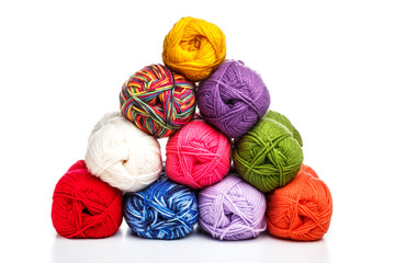 Pyramid of yarn