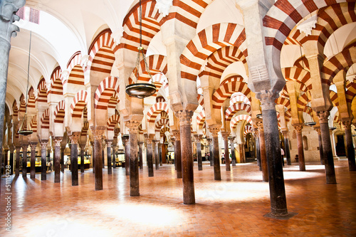 The Great Mosque and Cathedral  Mezquita  famous interior in Cor