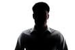 Businessman portrait silhouette wearing a open collar shirt
