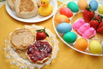 Colorful Easter Breakfast