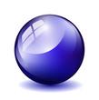 Glas Kugel Blau