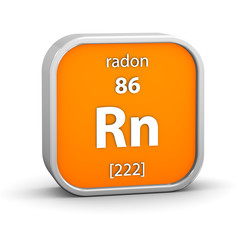 Radon material sign