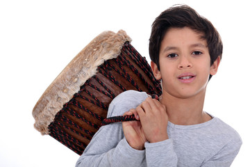 Boy with a bongo