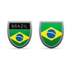Brazil flag emblem