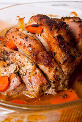 roast of the pork ham