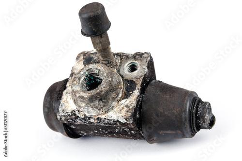 Worn out brake cylinder