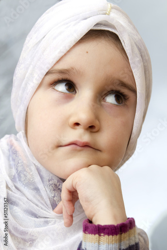 Pretty little muslim girl