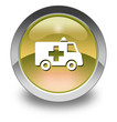 "Yellow Glossy Pictogram ""Ambulance"""