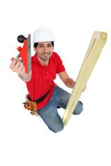 carpenter, studio shot