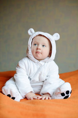 baby wearing costume