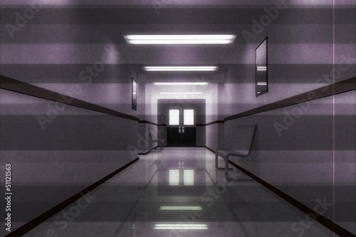 Scary Horror Hospital Corridor Poster