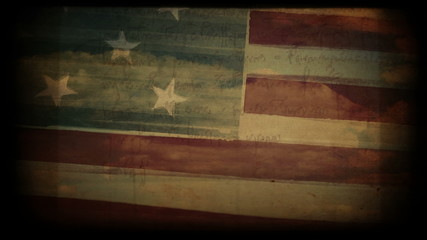 Vintage american flag abstract background