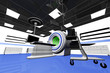 High Tech Operation Room Hospital Interior MRI CT machine