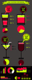 Vector cocktail infographic