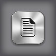 Document icon - vector metal app button