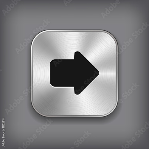 Arrow icon - vector metal app button