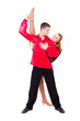 sensual salsa dancing couple