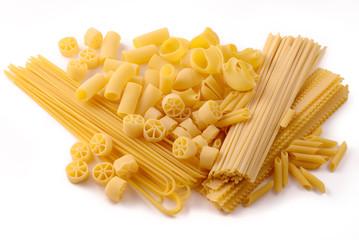 Durum wheat pasta, seven sizes