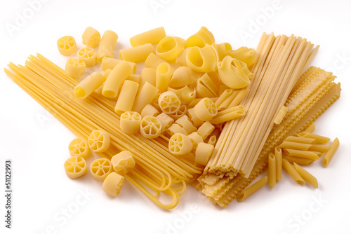 Durum wheat pasta, seven sizes