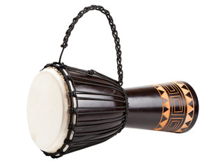 Djembe drum, isolated