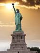 The Statue of Liberty,is a colossal neoclassical sculpture on Li