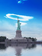 The Statue of Liberty, a gift to the United States from the peop