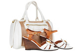 Ladies handbag and summer sandals