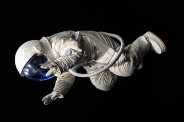 astronaut on black background