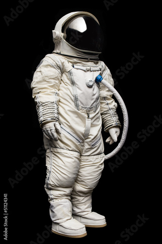 astronaut on black background