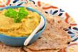 Hummus with whole grain tortilla bites