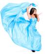 Woman in a beautiful long dress