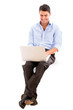 Business man using a laptop