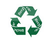 Recycle icon in Green