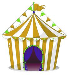 A big circus tent