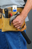 Closeup Contractor Tool Belt