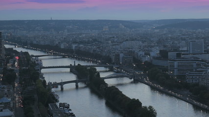 Paris. Panoramic view of the city and Seine river