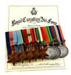 Постер, плакат: Royal Canadian Air Force Flight Lieutenant World War 2 medals