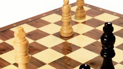 Chess pawn arrives to eighth rank