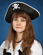 Young woman in pirate hat