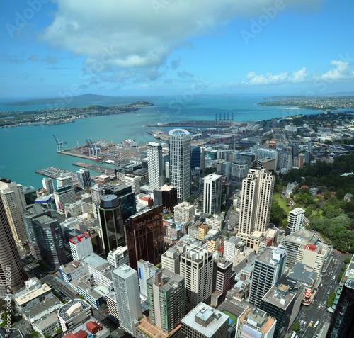 Fotobehang Nieuw Zeeland Auckland City & Harbour Aerial, New Zealand