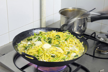 Hokkien Stir Fry Noodles in Wok