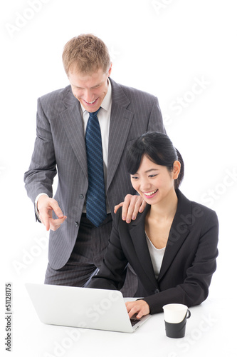 global business image on white background
