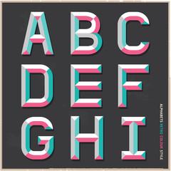 Alphabet vintage color style.