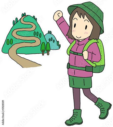 登山 女性
