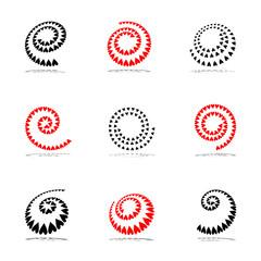 Spiral design elements set