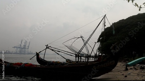 boats and fishing nets