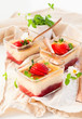 Rhubarb and strawberry dessert
